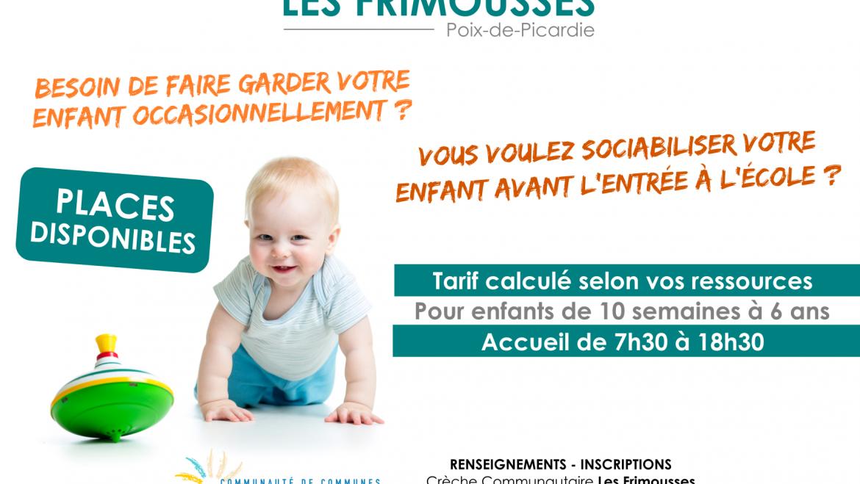 Accueil occasionnel Crèche Les Frimousses