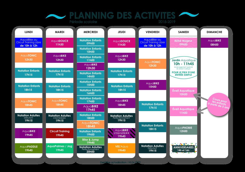 Planning Activités