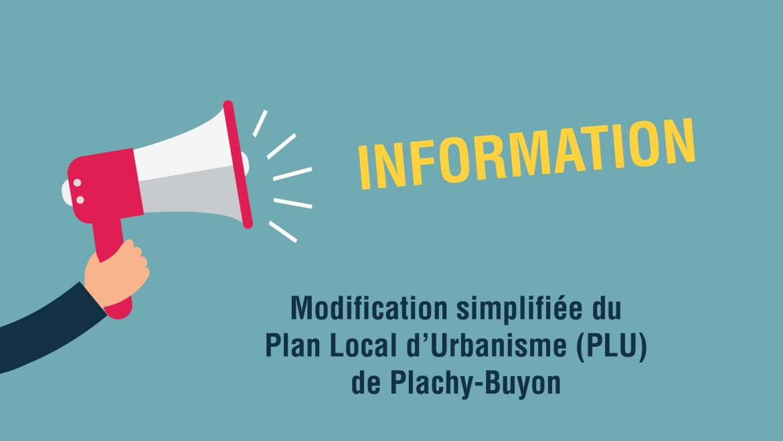 Modification simplifiée du PLU de Plachy-Buyon