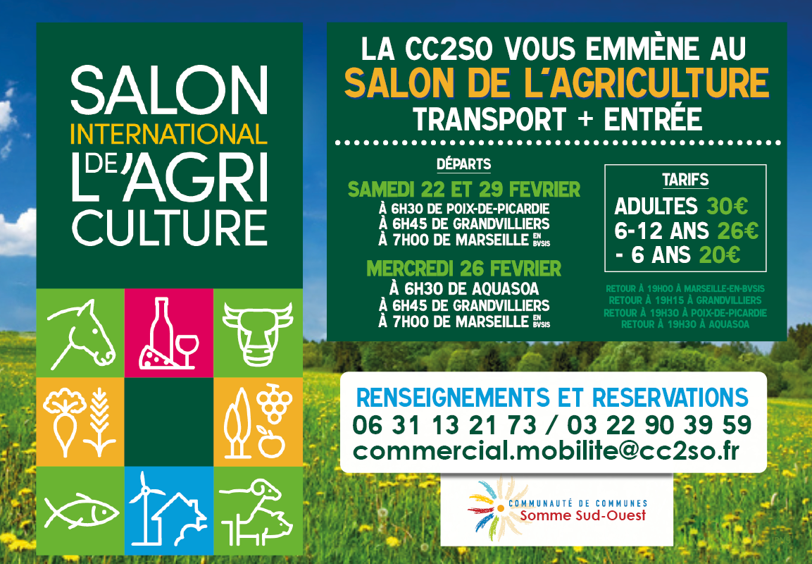 Salon de l'agriculture 2020 – Transport + Entrée