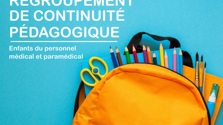 Accueil des enfants du personnel médical et paramédical