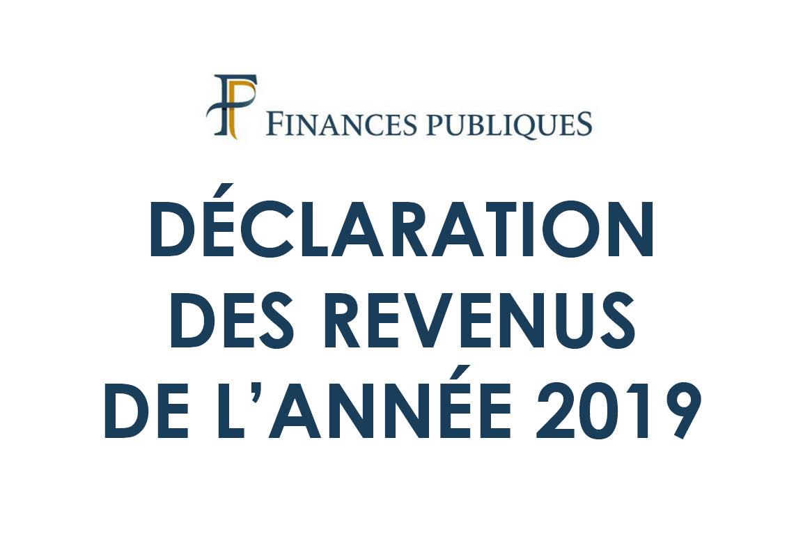 Déclaration des revenus de l'année 2019