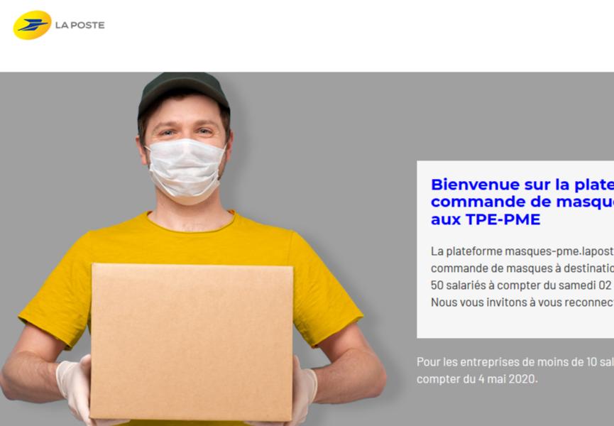 Une plateforme de commercialisation de masque pour les TPE/PME