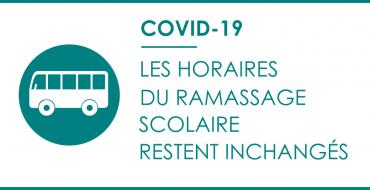 COVID-19 : Les horaires du ramassage scolaire restent inchangés