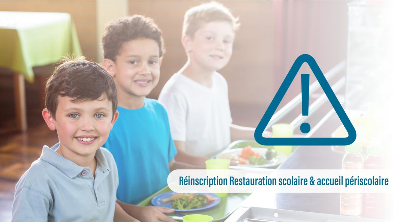 Inscription restauration scolaire et accueil périscolaire