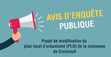 Enquête publique : Modification du PLU de Croixrault
