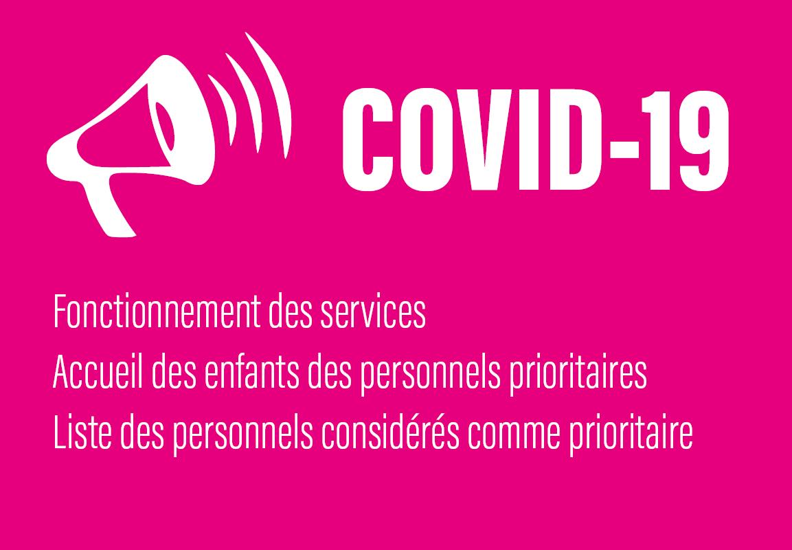 COVID-19   La CC2SO communique