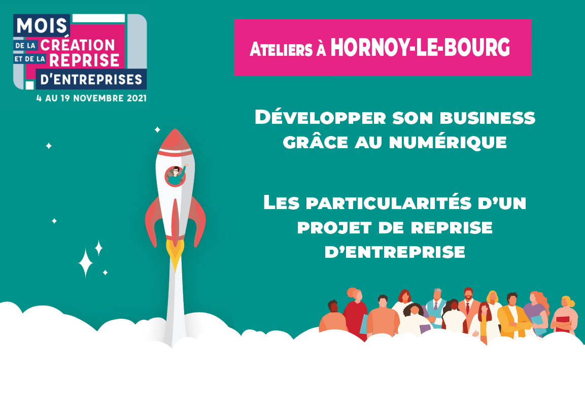 Mois de la Création et de la Reprise d'Entreprises : ateliers à Hornoy-le-Bourg